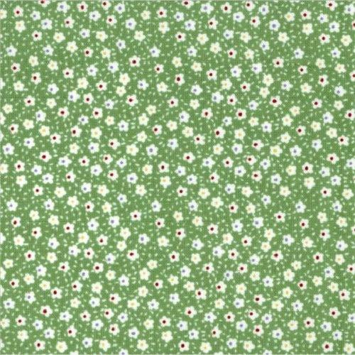 Treasures from the Attic, Tiny Flowers Fabric - Green - ineedfabric.com