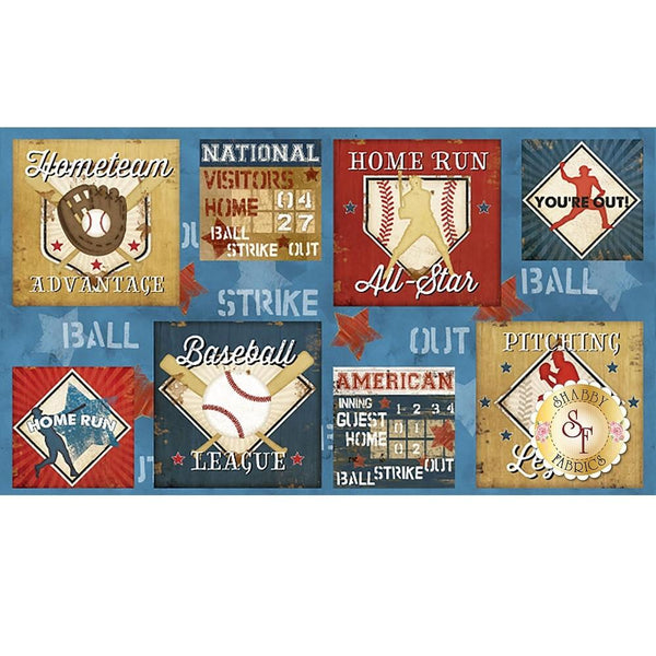 Wilmington Prints, 7th Inning Stretch Fabric Panel - ineedfabric.com