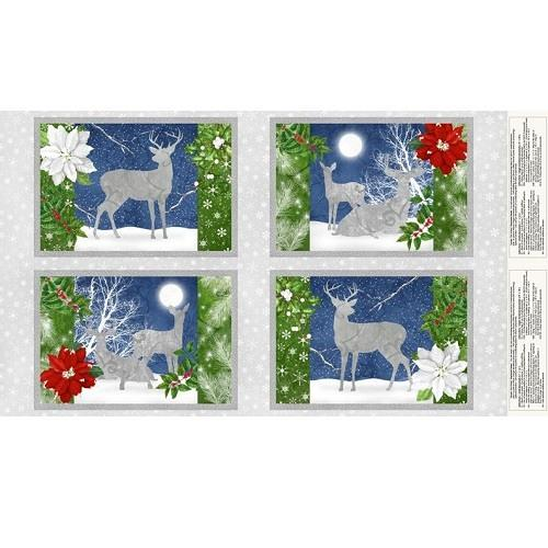Wilmington Prints, Christmas Deer Placemat Fabric Panel - ineedfabric.com