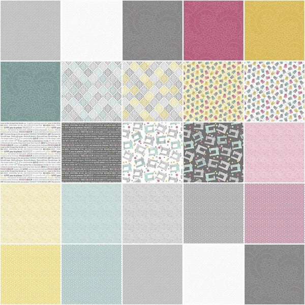 "Words To Quilt By 10"" Fabric Layer Cake - 42pcs - ineedfabric.com"