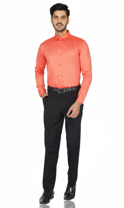 Dark Orange Premium Oxford Cotton Shirt Code-1223