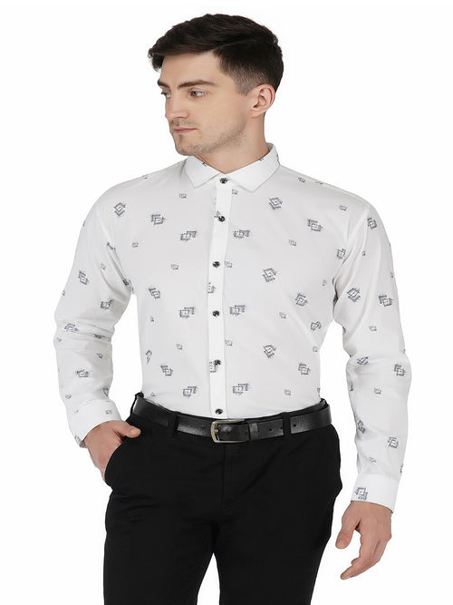 White Printed Code-1113 - Tooley Shirts
