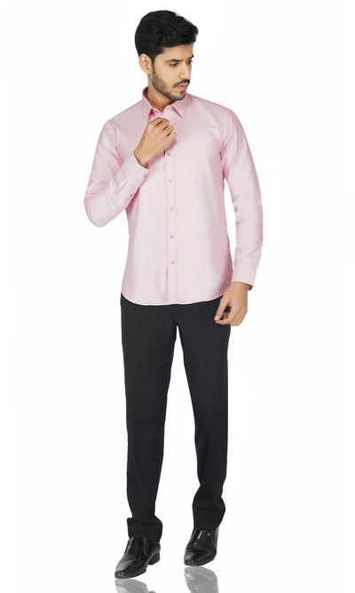 Premium Oxford Cotton Light Pink Shirt Code-1226