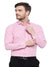 Pink Small Check Shirt For mens Code-1051 - Tooley Shirts
