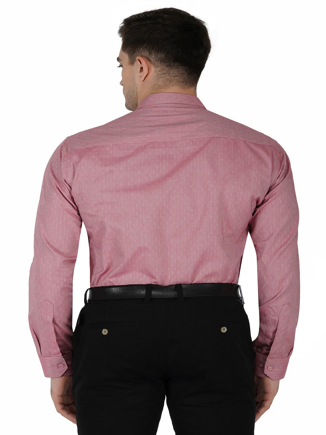 Pink Printed For Mens Code-1115 - Tooley Shirts