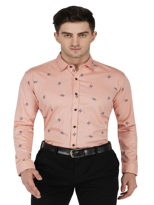 Light Red Printed Code-1116 - Tooley Shirts