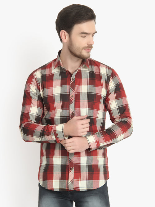 Men's Casual Check Cotton Shirt Code-1026 - Tooley Shirts