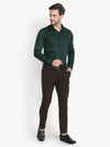 Men's Formal Dark Green Cotton Shirt Code-1032 - Tooley Shirts