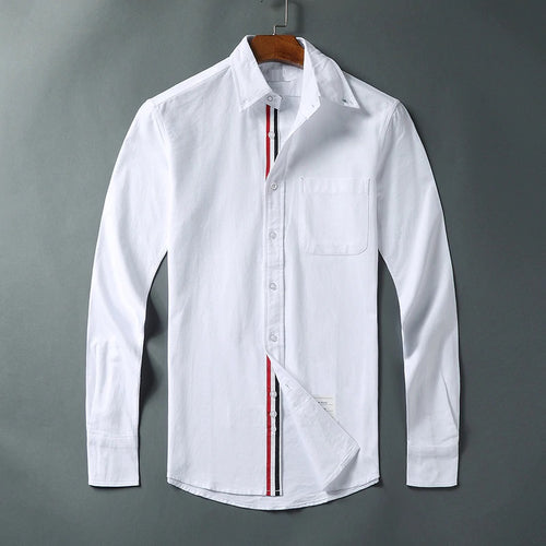 Men Slim White Long Sleeve Casual Shirt Code-1236