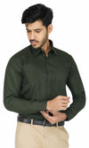 Premium Ultra Olive Green Formal Shirt Code-1211