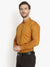 Men's Formal Dark Golden Shirt Ban Collar Code-1020 - Tooley Shirts