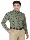 Dark Grey Printed Code-1124 - Tooley Shirts