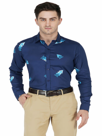 Dark blue Printed Code-1125 - Tooley Shirts