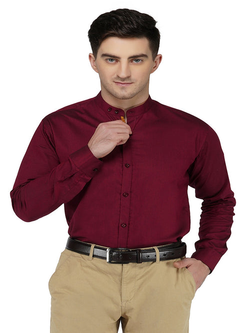 Formal Mahroon Shirt Code-1102 - Tooley Shirts