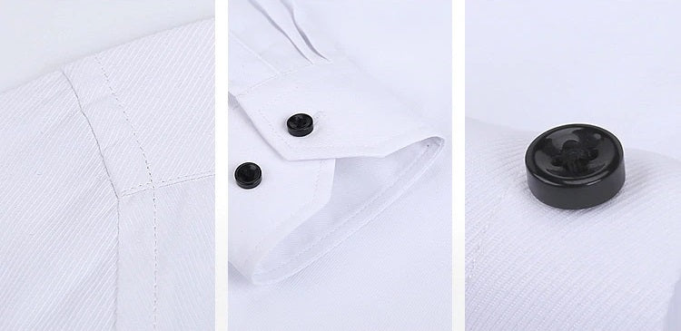 Men Luxury Casual Formal Shirt Wedding Party Decent Long Sleeve Slim Code-1231