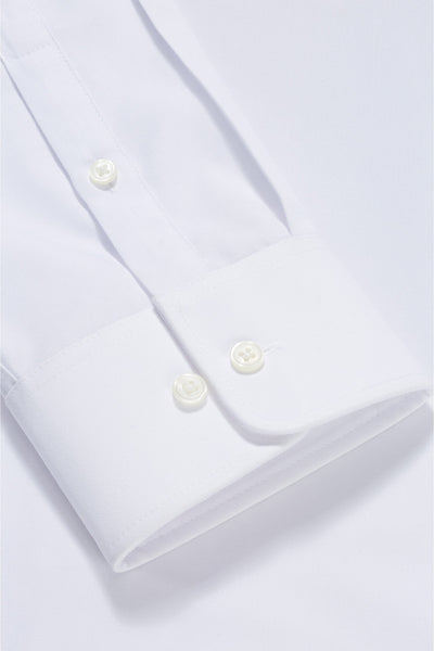 White  Formal Premium Oxford Cotton Shirt Code-1206