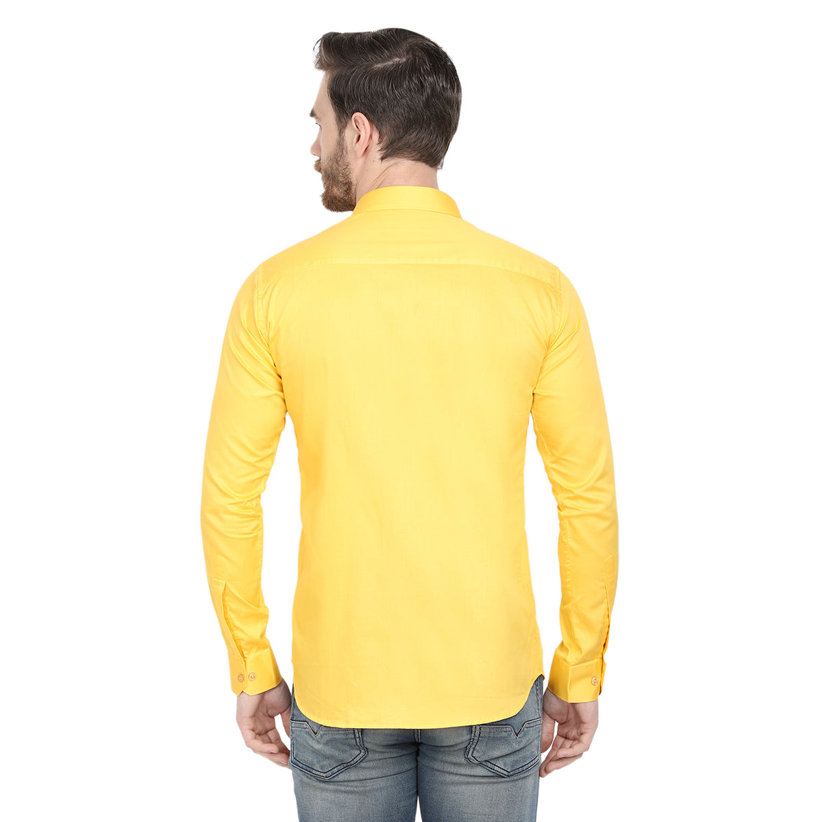 Men's Formal Dark Yellow Cotton Shirt Code-1009 - Tooley Shirts