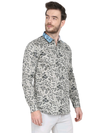 Printed Cream color Shirt for mens Code-1040 - Tooley Shirts
