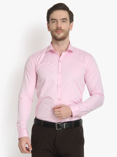Men's Formal Pink Cotton Shirt Code-1010