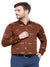 Mens's Brown Printed Cotton Shirt Code-1062 - Tooley Shirts