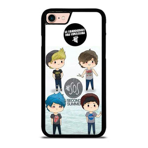 5 SECONDS OF SUMMER 5SOS CARTOON Cover iPhone 8