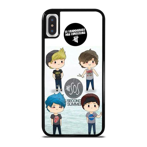 5 SECONDS OF SUMMER 5SOS CARTOON cover iPhone X / XS,cover iphone x guscio cover iphone x e xs uguali,5 SECONDS OF SUMMER 5SOS CARTOON cover iPhone X / XS