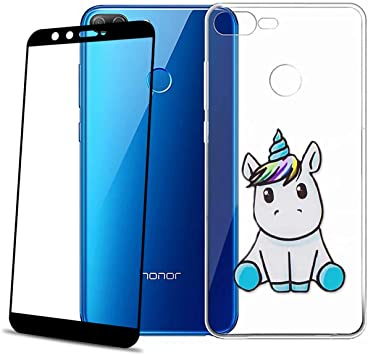 COVER per Huawei Honor 9 Lite CUSTODIA in TPU + PELLICOLA VETRO TEMPERATO