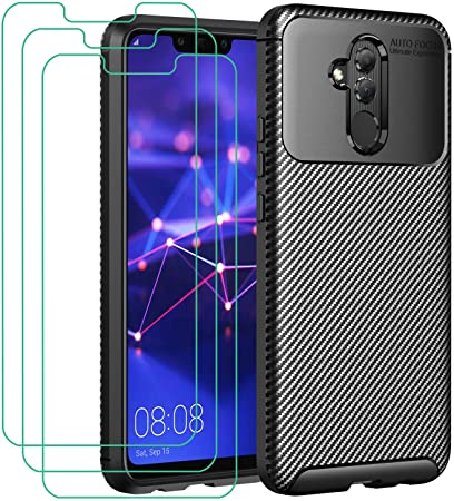 COVER per Huawei Mate 20 Lite CUSTODIA Morbida ORIGINALE CARBONIO Silicone  Slim