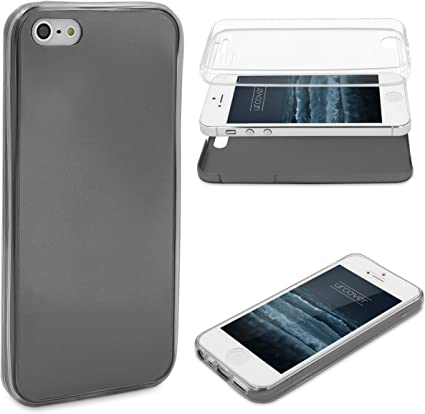 COVER FULL BODY 360° COPERTURA FRONTE-RETRO PER SMARTPHONE APPLE IPHONE 5 -  5S