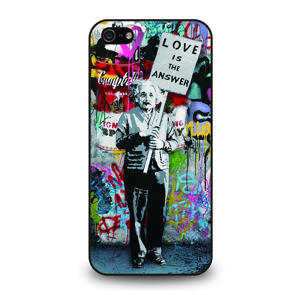 BANKSY EINSTEIN Cover iPhone 5 / 5S / SE - Negozio di custodie per Iphone|samsung|huawei custodia4cover.it