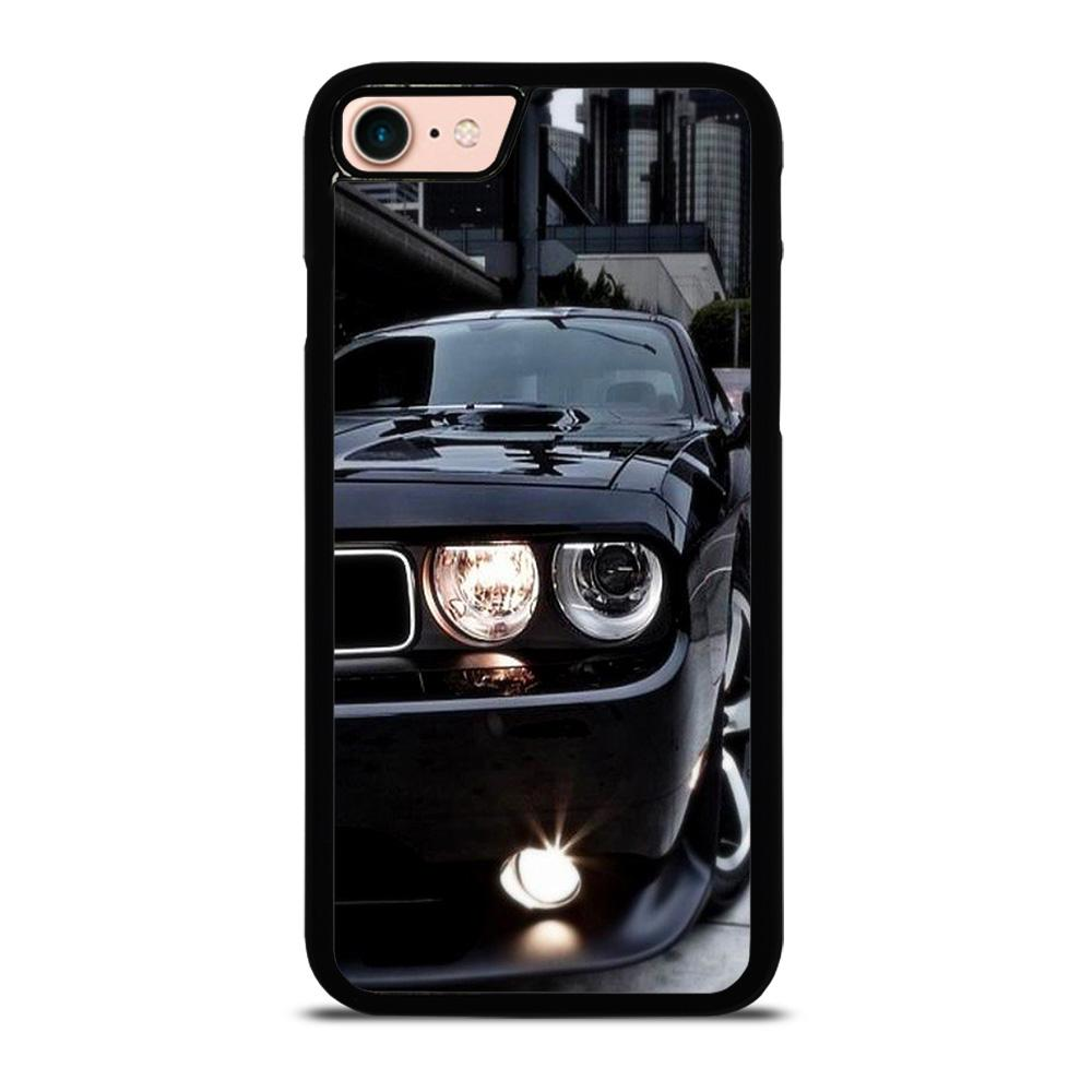 BLACK DODGE CHALLENGER Cover iPhone 8