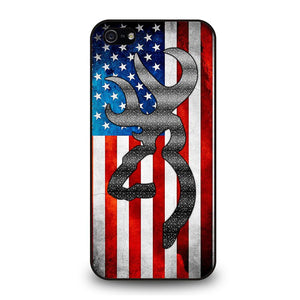 BROWNING CAMO AMERICAN FLAG Cover iPhone 5 / 5S / SE - benecover