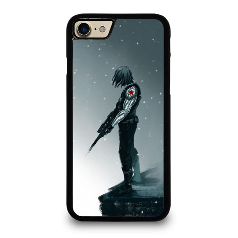 coque custodia cover fundas iphone 11 pro max 5 6 7 8 plus x xs xr se2020 C12421 BUCKY BARNES WINTER SOLDIER iPhone 7 / 8 Case