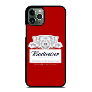 coque custodia cover fundas iphone 11 pro max 5 6 7 8 plus x xs xr se2020 C12458 BUDWEISER LOGO #1 iPhone 11 Pro Max Case