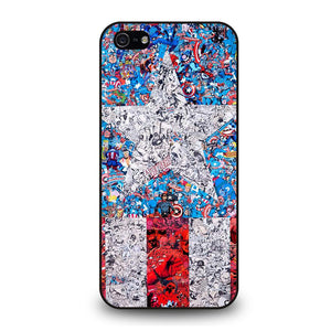 CAPTAIN AMERICA MARVEL COLLAGES Cover iPhone 5 / 5S / SE - benecover