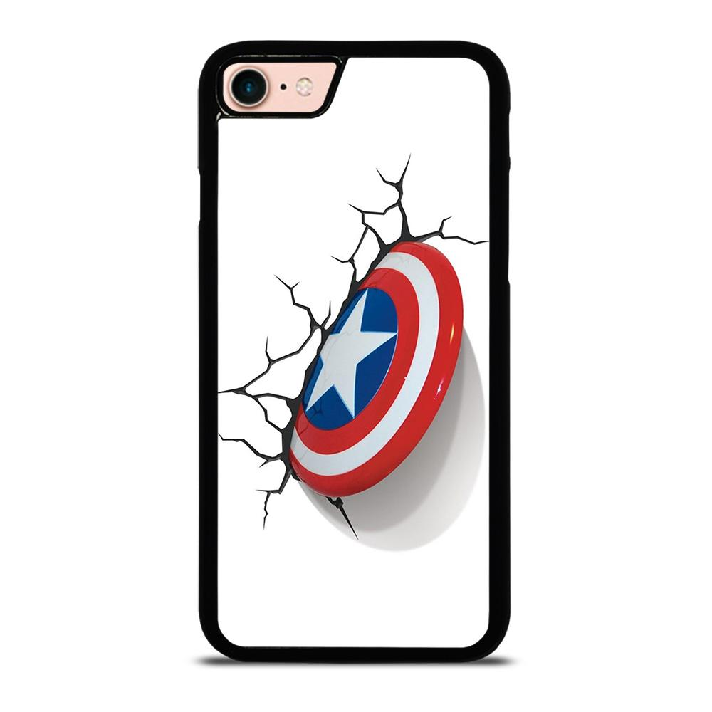 CAPTAIN AMERICA SHIELD 3D Cover iPhone 8