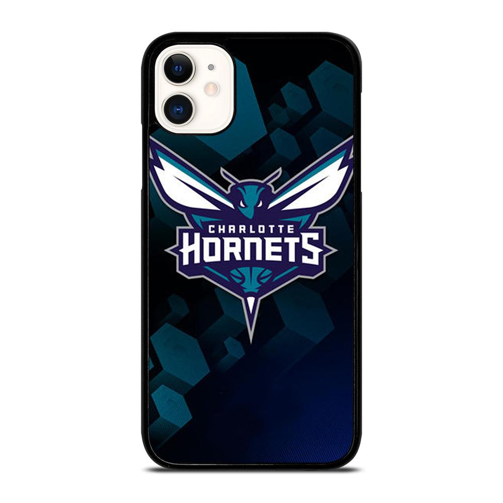 coque custodia cover fundas iphone 11 pro max 5 6 7 8 plus x xs xr se2020 C13414 CHARLOTTE HORNETS NBA #1 iPhone 11 Case
