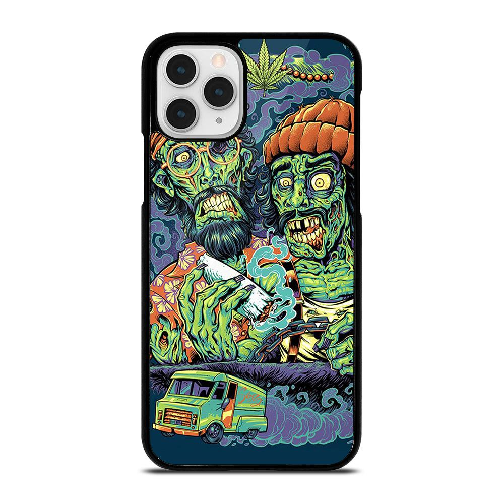 coque custodia cover fundas iphone 11 pro max 5 6 7 8 plus x xs xr se2020 C13512 CHEECH AND CHONG MARIJUANA ZOMBIE iPhone 11 Pro Case