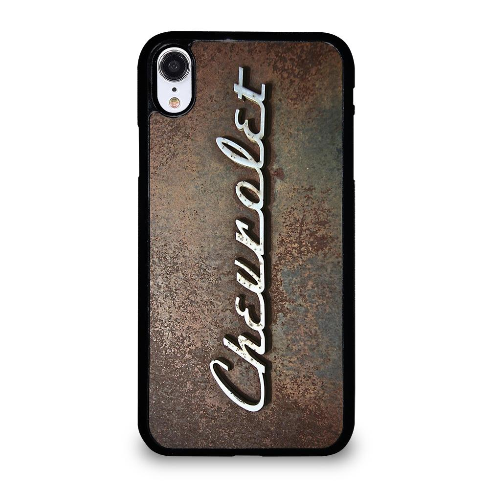 coque custodia cover fundas iphone 11 pro max 5 6 7 8 plus x xs xr se2020 C13636 CHEVY CHEVROLET OLD PLATE iPhone XR Case