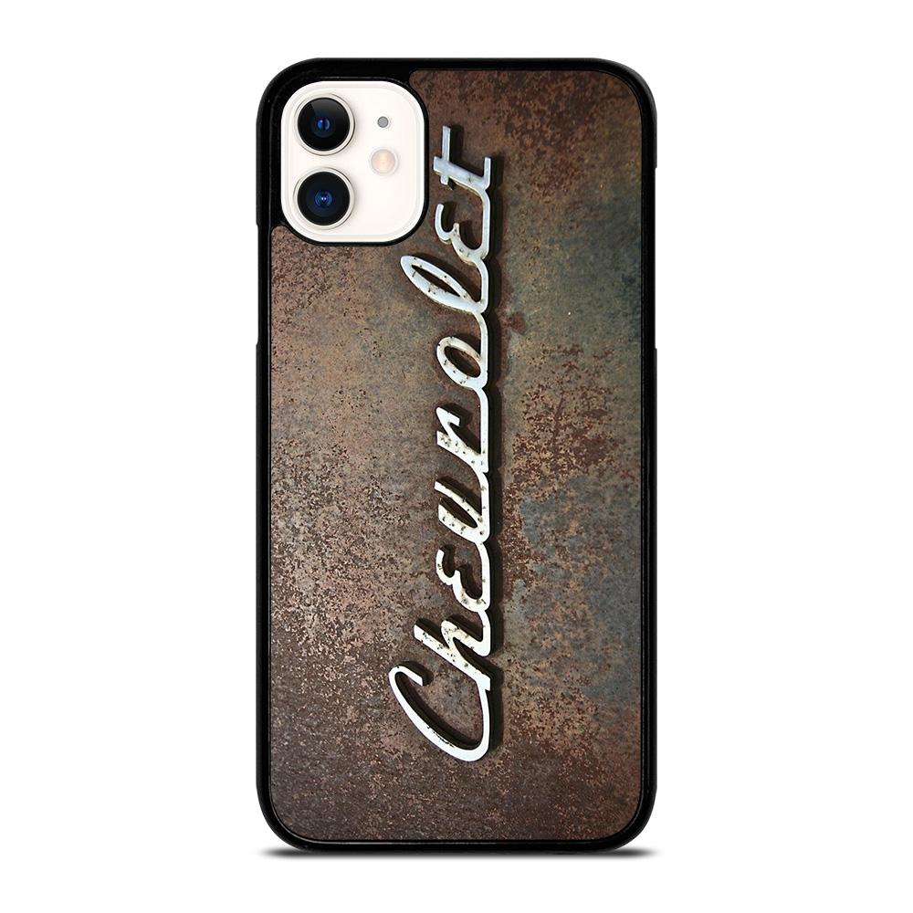 coque custodia cover fundas iphone 11 pro max 5 6 7 8 plus x xs xr se2020 C13628 CHEVY CHEVROLET OLD PLATE iPhone 11 Case