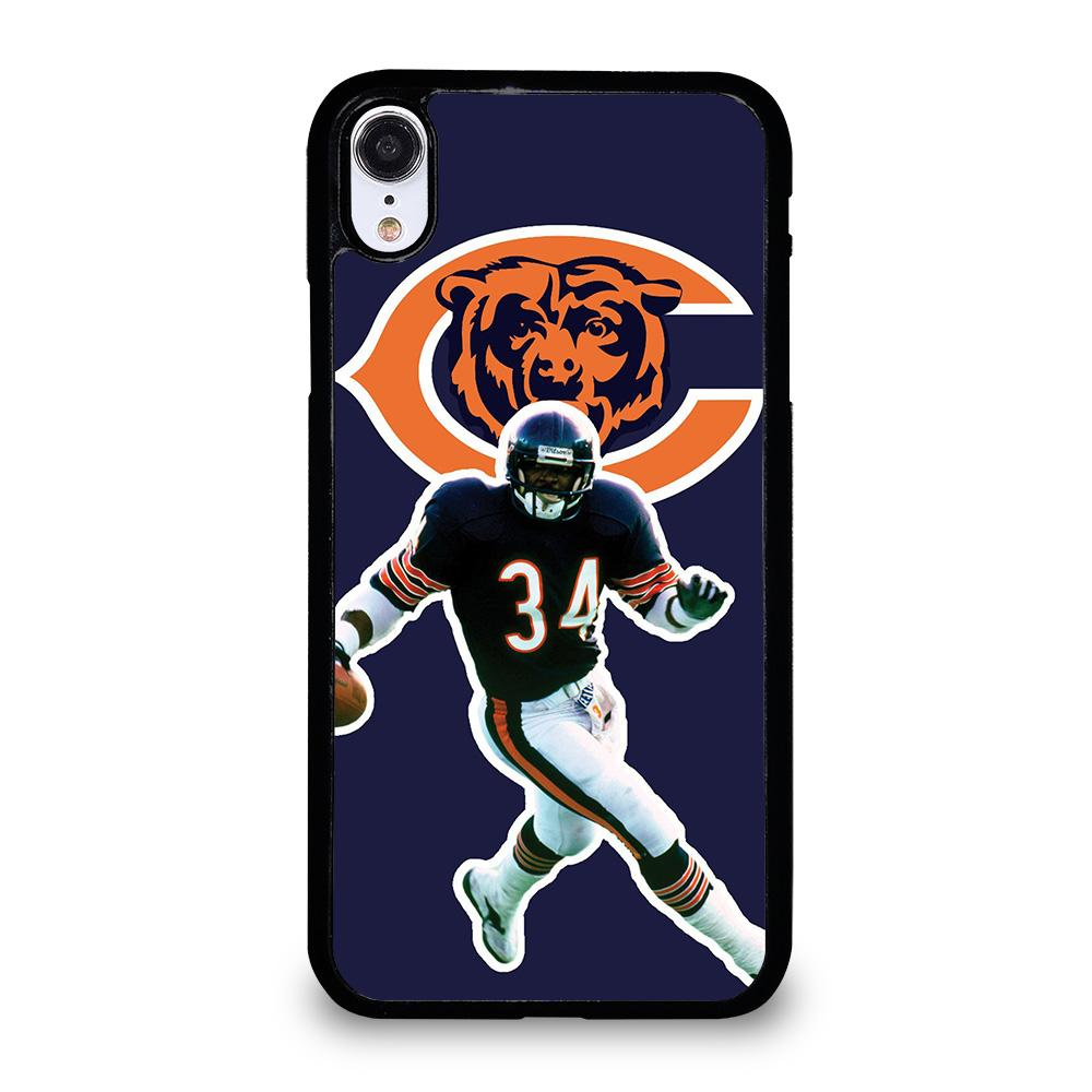 coque custodia cover fundas iphone 11 pro max 5 6 7 8 plus x xs xr se2020 C13780 CHICAGO BEARS WALTER PAYTON iPhone XR Case