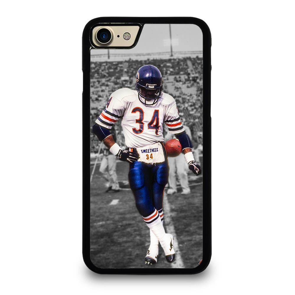 coque custodia cover fundas iphone 11 pro max 5 6 7 8 plus x xs xr se2020 C13766 CHICAGO BEARS WALTER PAYTON 34 iPhone 7 / 8 Case
