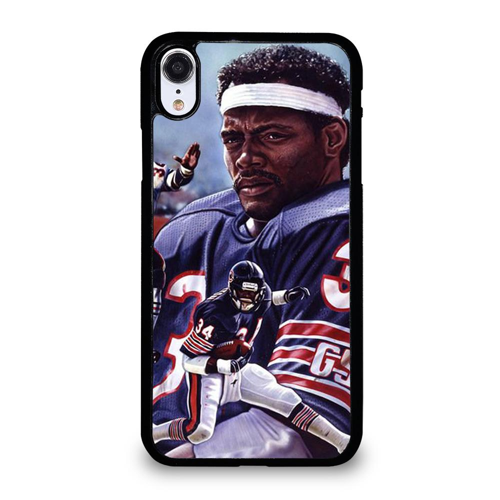 coque custodia cover fundas iphone 11 pro max 5 6 7 8 plus x xs xr se2020 C13759 CHICAGO BEARS WALTER PAYTON 34 2 iPhone XR Case