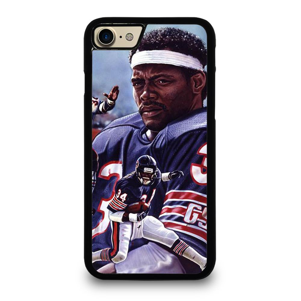 coque custodia cover fundas iphone 11 pro max 5 6 7 8 plus x xs xr se2020 C13756 CHICAGO BEARS WALTER PAYTON 34 2 iPhone 7 / 8 Case