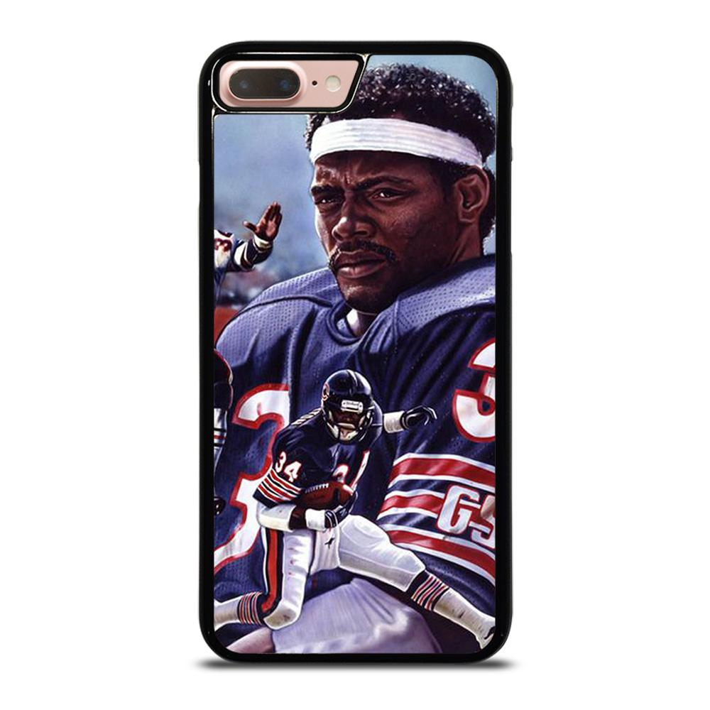 coque custodia cover fundas iphone 11 pro max 5 6 7 8 plus x xs xr se2020 C13757 CHICAGO BEARS WALTER PAYTON 34 2 iPhone 7 / 8 Plus Case