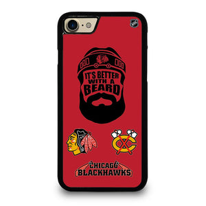 coque custodia cover fundas iphone 11 pro max 5 6 7 8 plus x xs xr se2020 C13788 CHICAGO BLACKHAWKS BEARD iPhone 7 / 8 Case