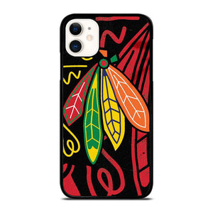 coque custodia cover fundas iphone 11 pro max 5 6 7 8 plus x xs xr se2020 C13831 CHICAGO BLACKHAWKS NHL HOCKEY #2 iPhone 11 Case