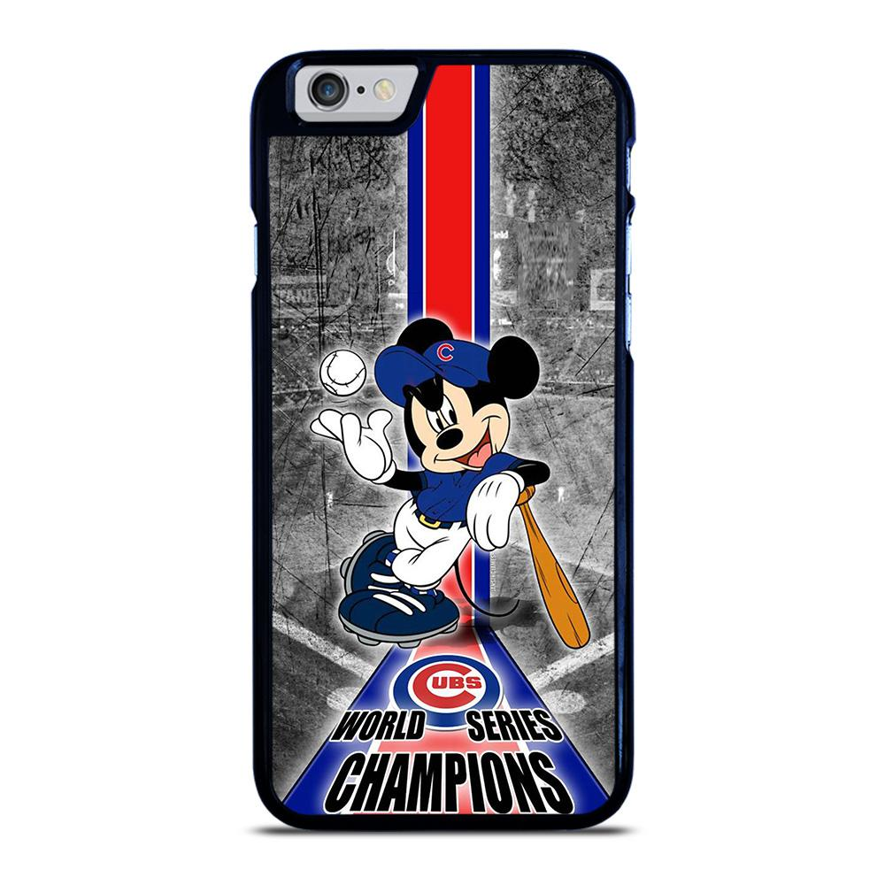 coque custodia cover fundas iphone 11 pro max 5 6 7 8 plus x xs xr se2020 C13927 CHICAGO CUBS MICKEY MOUSE iPhone 6 / 6S Case