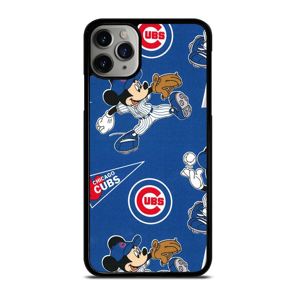 coque custodia cover fundas iphone 11 pro max 5 6 7 8 plus x xs xr se2020 C13915 CHICAGO CUBS MICKEY MOUSE 1 iPhone 11 Pro Max Case