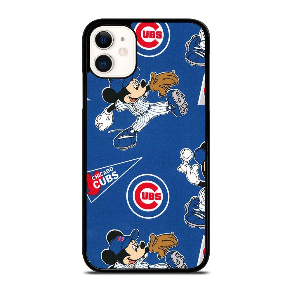 coque custodia cover fundas iphone 11 pro max 5 6 7 8 plus x xs xr se2020 C13913 CHICAGO CUBS MICKEY MOUSE 1 iPhone 11 Case